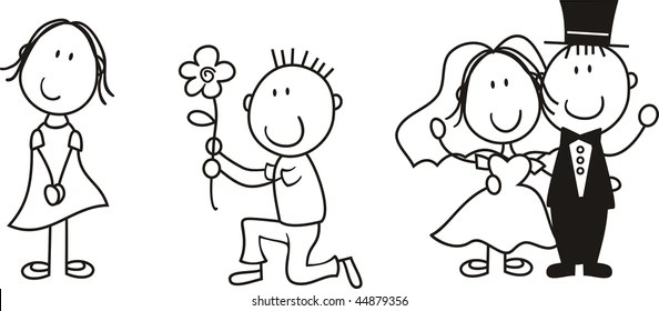 Cartoon Wedding Couple Images Stock Photos Vectors