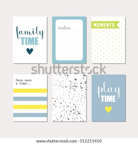 Set Journaling Cards Newborn Baby Boy Stock Vector (Royalty Free