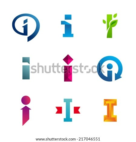 Set Letter Logo Icon Design Template Stock Vector (Royalty Free
