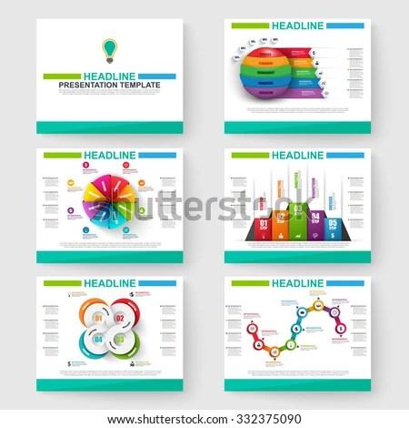 Set Multipurpose Presentation Infographic Templates Powerpoint Stock