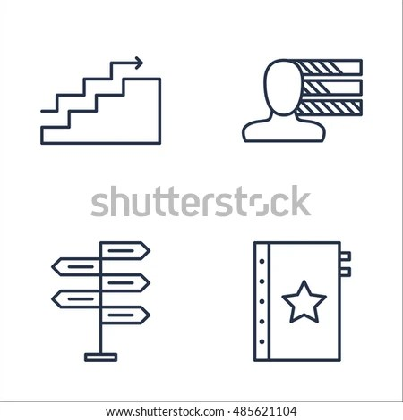 Set Project Management Icons On Decision Stock Vector (Royalty Free