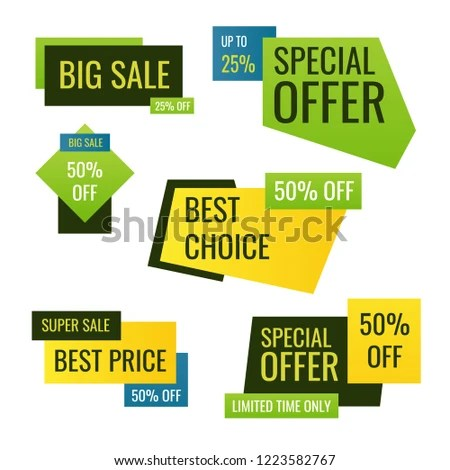 Set Sale Stickers Price Tag Labels Stock Vector (Royalty Free