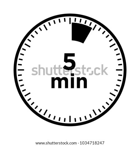 Set Timers Five Minutes Transparent Sign Stock Vector (Royalty Free