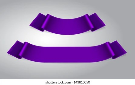 Set Two Purple Ribbon Banners Stock Vector (Royalty Free) 143810050