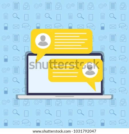 Short Message Service Bubbles Place Text Stock Vector (Royalty Free