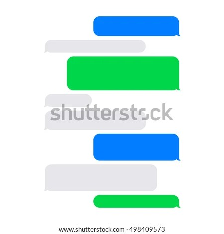 Short Message Service SMS Blank Bubbles Stock Vector (Royalty Free