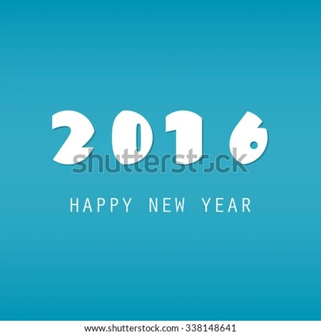 Simple Blue White New Year Card Stock Vector (Royalty Free