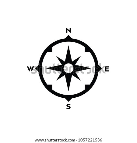 Simple Compass Design Vector Format Stock Vector (Royalty Free