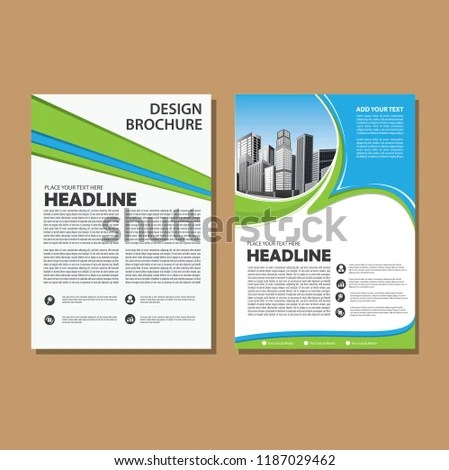 Simple Cover Layout Brochure Magazine Catalog Stock Vector (Royalty