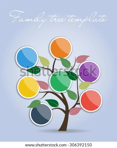 Simple Family Tree Template Vector Illustration Stock Vector