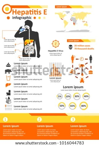 Simple Flat Style Infographics Components Health Stock Vector