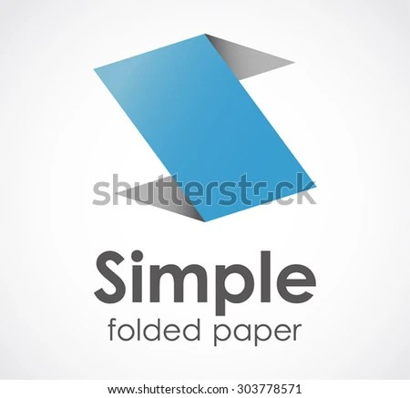 Simple Fold Paper Letter S Origami Stock Vector (Royalty Free