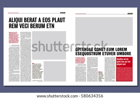 Simple Graphical Design Newspaper Template Stock Vector (Royalty
