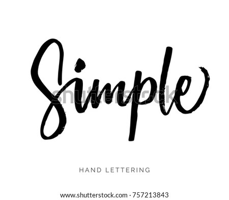 Simple Hand Written Elegant Word Your Stock Vector (Royalty Free