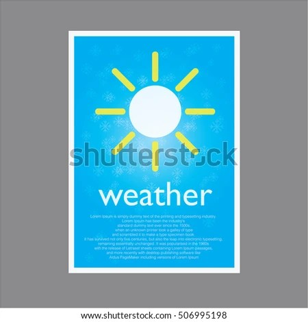 Simple Page Weather Describe Stock Vector (Royalty Free) 506995198