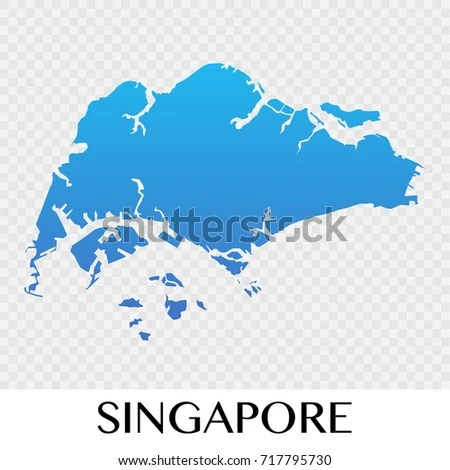 Singapore Map Asia Continent Illustration Design Stock Vector