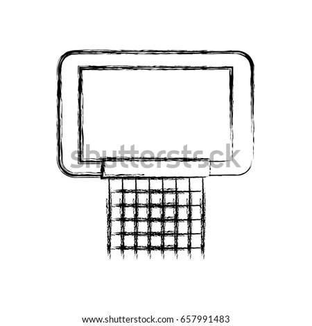 Sketch Draw Basketball Hoop Stock Vector (Royalty Free) 657991483