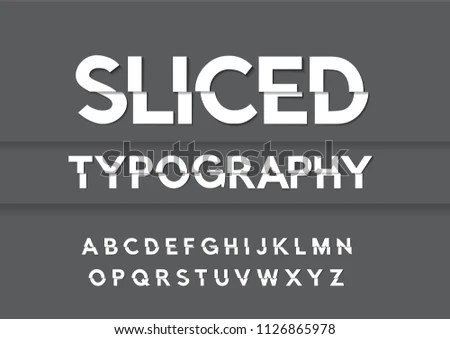 Slicedshifted Typography Design Vector Stock Vector (Royalty Free