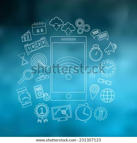 Smart Phone Device Concept Applications App Stock Vector (Royalty