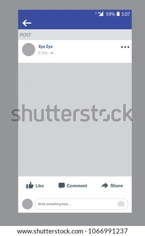 Social Network Profile On Smart Phone Stock Vector (Royalty Free