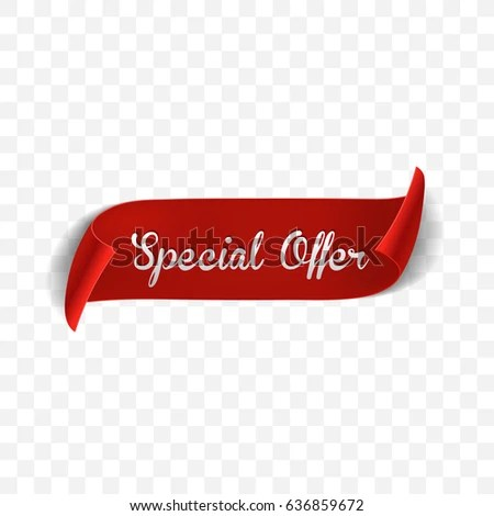 Special Offer Vector Ribbon Design Template Stock Vector (Royalty