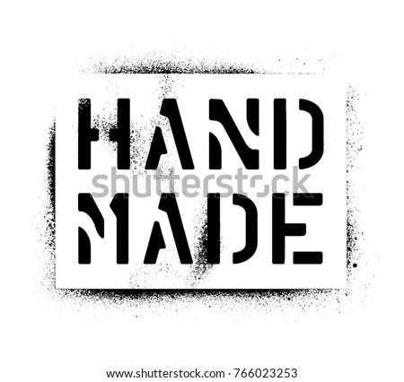 Spray Paint Graffiti Stencil Hand Made Stock Vector (Royalty Free