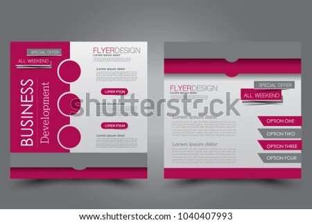 Square Flyer Design Cover Brochure Website Stock Vector (Royalty