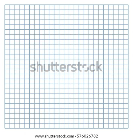 Square Mesh White Graph Paper Template Stock Vector (Royalty Free