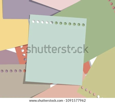 Stack Paper Note Vintage Style Memo Stock Vector (Royalty Free