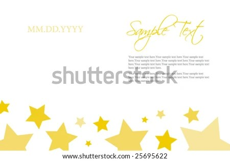 Stars Invitation Template Stock Vector (Royalty Free) 25695622