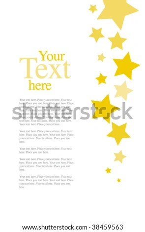 Stars Invitation Template Stock Vector (Royalty Free) 38459563