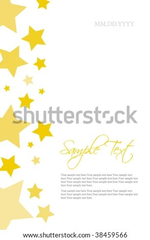 Stars Invitation Template Stock Vector (Royalty Free) 38459566