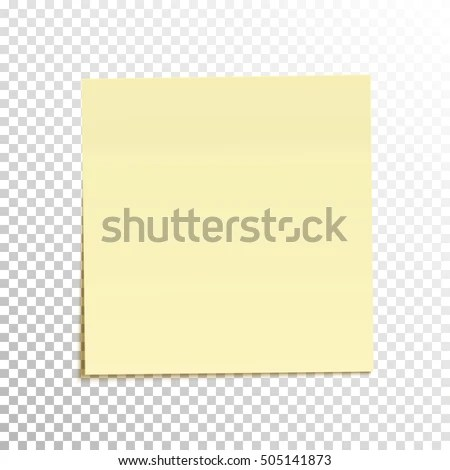 Sticky Note Isolated On Transparent Background Stock Vector (Royalty