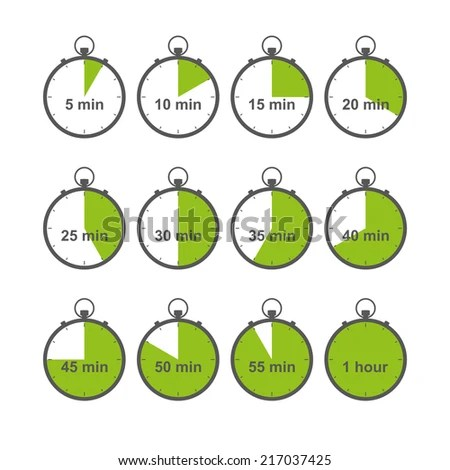 Stopwatch Timer Chronometer Icons Set Isolated Stock Vector (Royalty