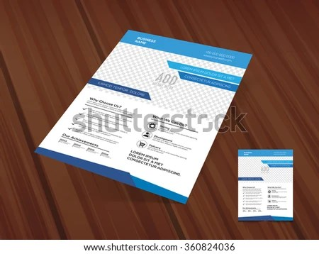 Stylish One Page Business Flyer Banner Stock Vector (Royalty Free