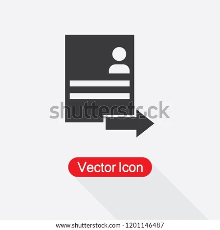 Submit Resume Icon Vector Illustration Eps 10 Stock Vector (Royalty