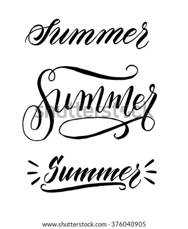 Summer Hand Written Elegant Word Your Stock Vector (Royalty Free