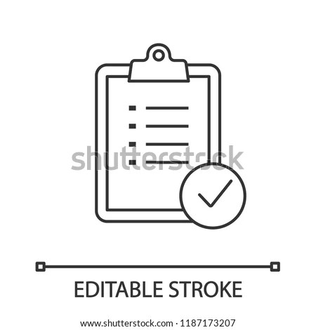 Task Planning Linear Icon Checklist Test Stock Vector (Royalty Free