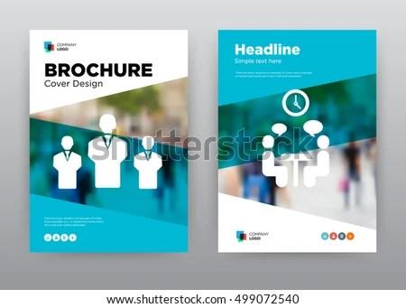 Team Building Blue Employee Training Meeting Stock Vector (Royalty