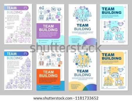 Team Building Brochure Template Layout Teamwork Stock Vector