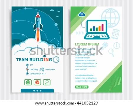 Team Building Design Concept Background Rocket Stock Vector (Royalty
