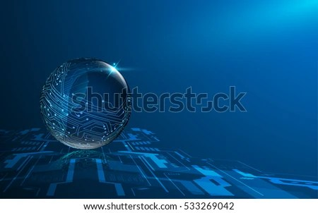 Technology Sphere Circuit Design Background Stock Vector (Royalty