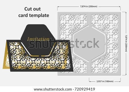 Template Cards Cut Topper Use Congratulations Stock Vector (Royalty