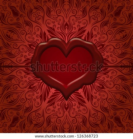 Template Frame Design Valentines Day Card Stock Vector (Royalty Free