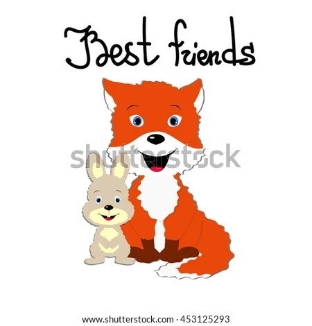 Template Greeting Card Friendship Day Couple Stock Vector (Royalty