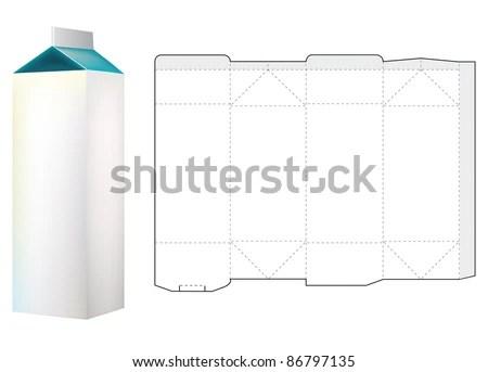 Template Milk Carton Box Stock Vector (Royalty Free) 86797135