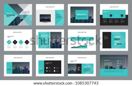 Template Presentation Design Page Layout Design Stock Vector