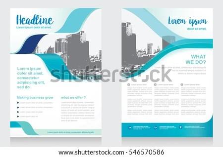 Template Vector Design Brochure Annual Report Stock Vector (Royalty