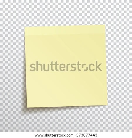 Template Yellow Sticky Note Isolated On Stock Vector (Royalty Free