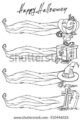 Templates Banners Menus Theme Halloween Stock Vector (Royalty Free